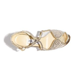 Jimmy Choo Shoes - Jimmy Choo Fairview Embellished Sandals gold